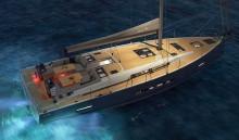 Mar Abierto Silueta deportiva, cubierta muy funcional para el crucero y casco de