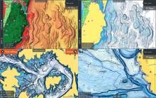 Mar Abierto - Upgrade de prestaciones para las cartas C-Map Reveal (arriba) y Di