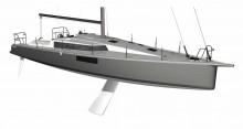 """Mar Abierto -  La cubierta del Pogo 44 presenta el singular diseño en """"T"""""""