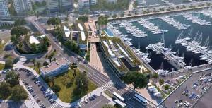 Mar AbiertoLos accesos peatonales y rodados entre el Paseo Marítimo y la termina