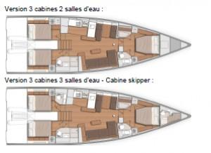 Mar Abierto - El FY53 se propone con tres camarotes dobles y dos o tres baños. E