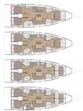 Mar Abierto - De 3 a 5  cabinas, hasta 4 baños y distintas configuraciones del s