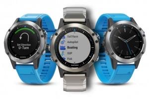 Mar Abierto - El quatix 5 de Garmin está disponible con correa de silicona azul