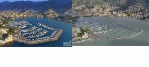 Mar Abierto Impresionantes imágenes del antes y el después del puert de Rapallo