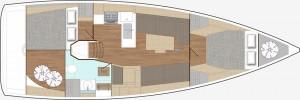 Mar Abierto - De momento, el X4° se ofrece solamente con 2 camarotes, estando pr