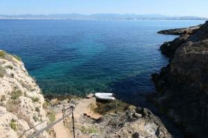 Una tranquila visión de la bahía de Palma